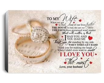 UP To My Wife Love You Forever /& Always Landscape Paper Poster Without Frame