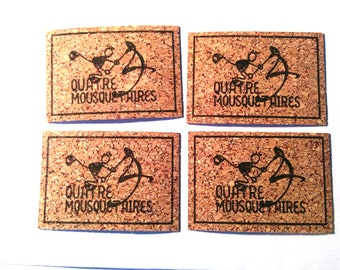 Bespoke cork labels, sewing, knitting, crochet, clothing identification, laser engraving, customization, vegan leather, waterproof,