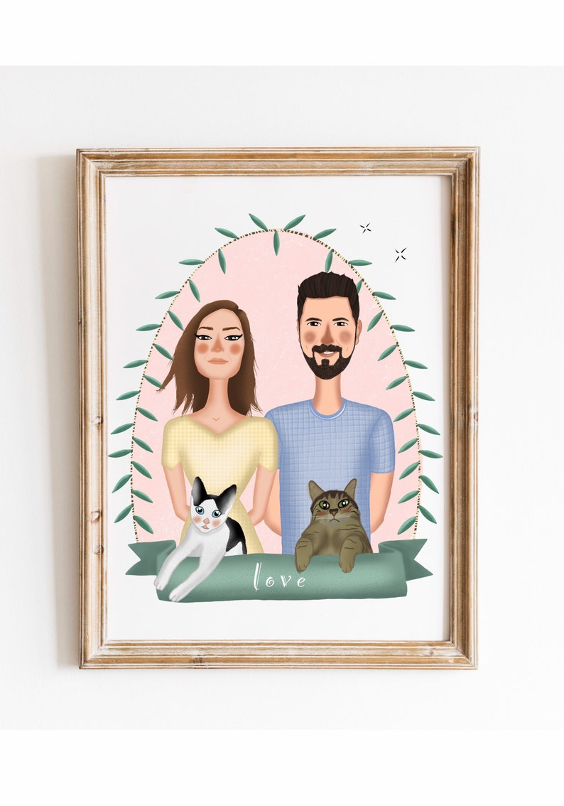 Portrait illustration is the cutest present that you can give to your loved one. It is drawn individually to capture the distinctive features of you and your loved one. It is guaranteed to make your recipients smile when they open their anniversary gift.