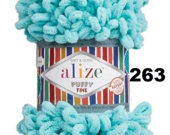 Baby Yarn Chunky Yarn Soft Yarn 100g 9m 3.5o Alize Puffy Yarn Bulky Yarn Blanket Yarn Alize Puffy Loop Yarn No Needle No Hook Yarn