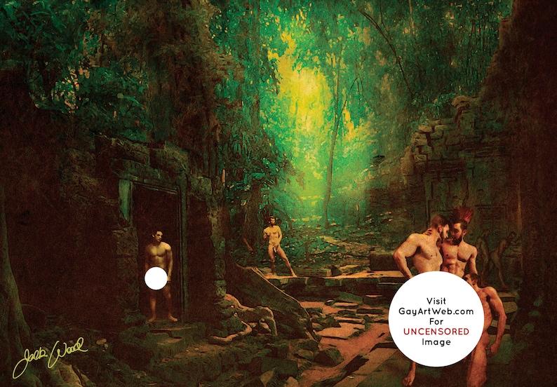 Jungle Ruin  Erotic Gay Male Nude Art image 0