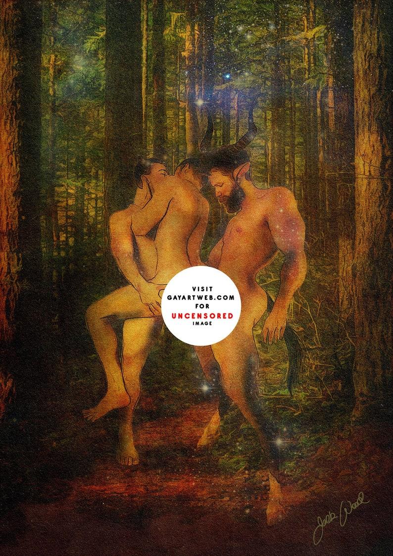 Satyrnalia  Erotic Gay Male Nude Art image 0