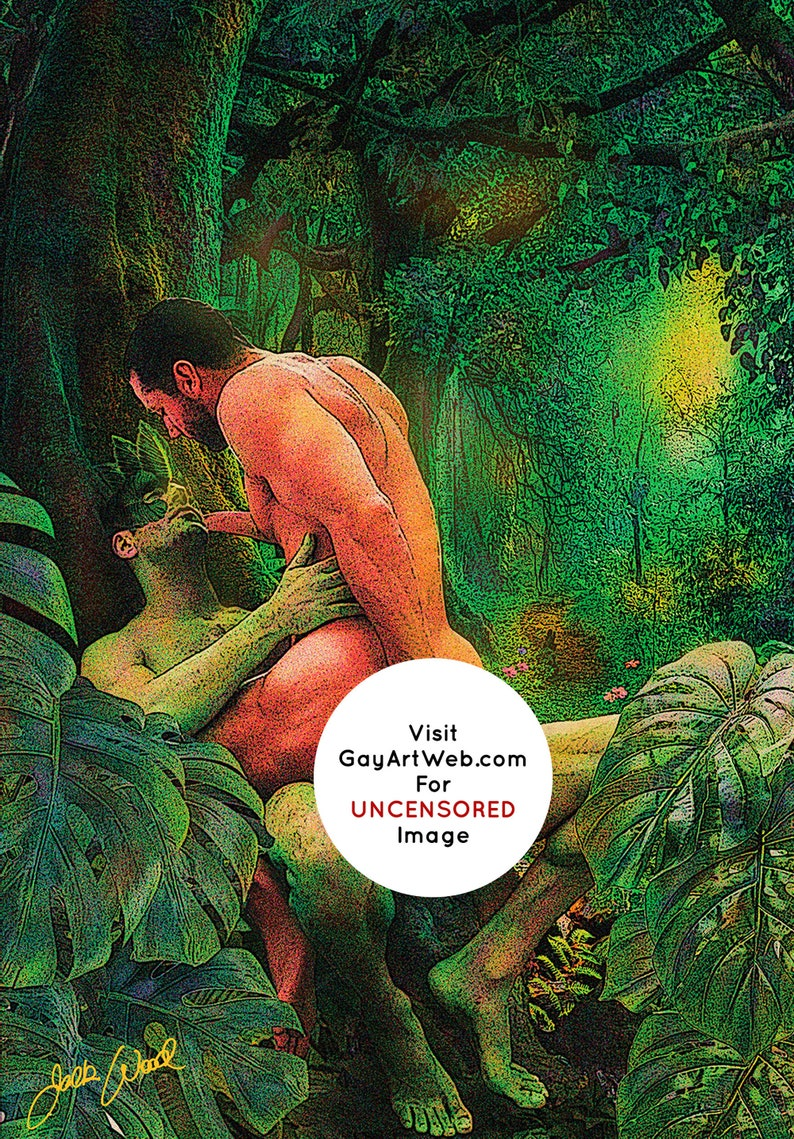 Forest Frolic  Erotic Gay Male Nude Art image 0