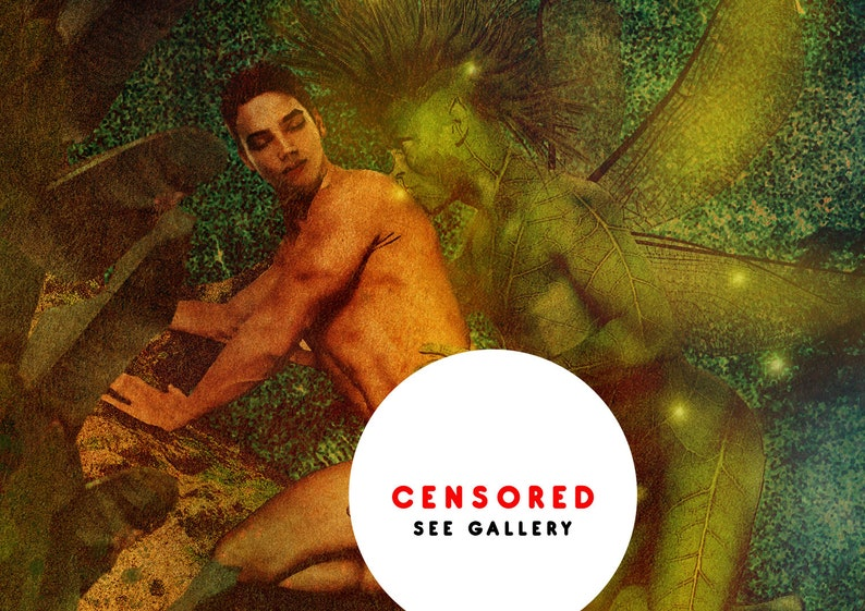 Forest Sprite  Erotic Gay Male Nude Art image 0