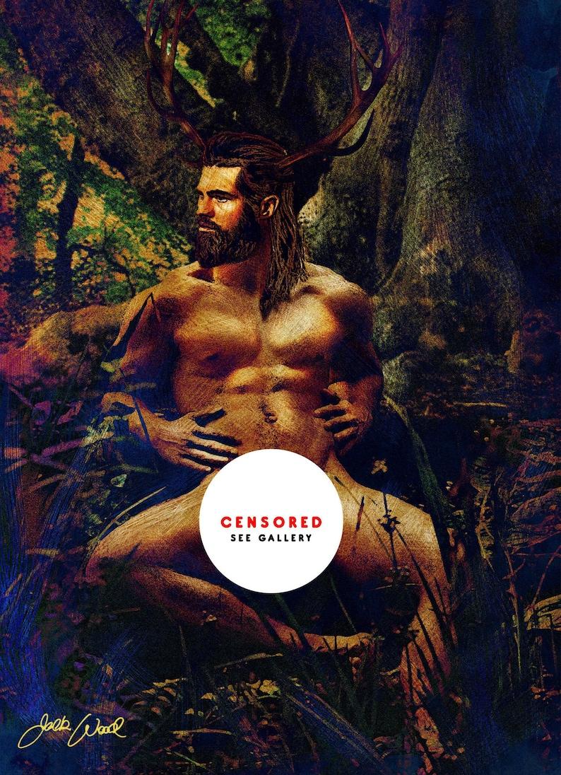 Nature Man  Erotic Gay Male Nude Art image 0