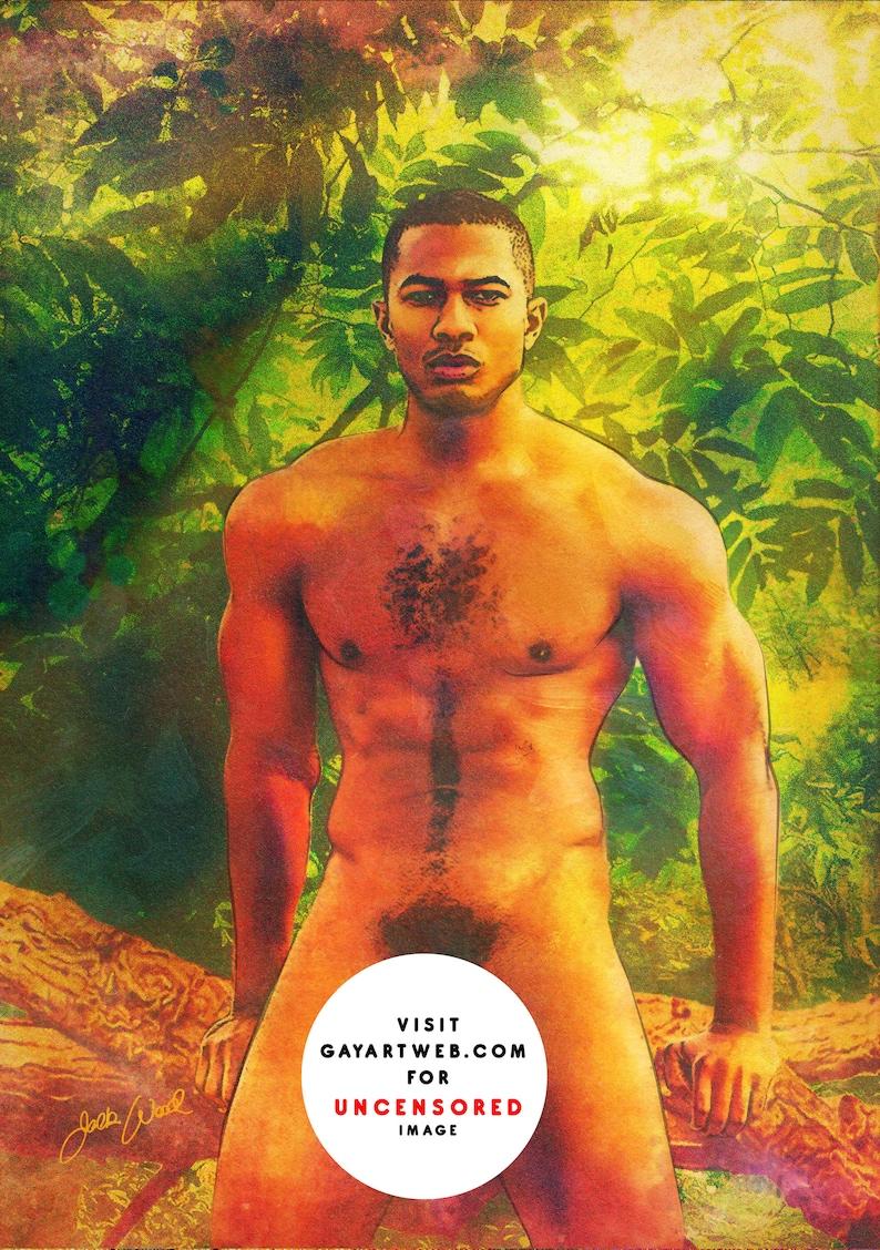 Leaves  Erotic Gay Male Nude Art image 0