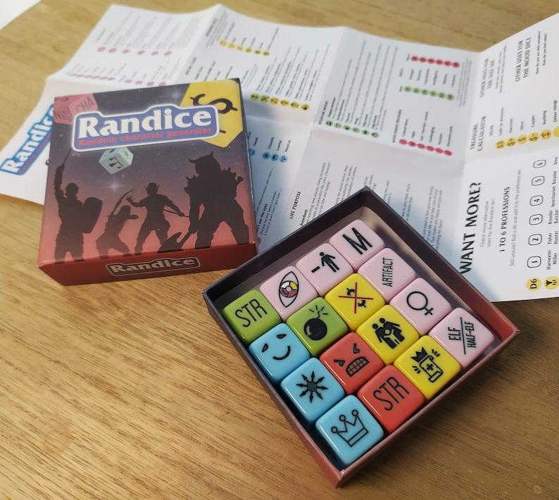 Randice DnD Random Character Generator Dice Set  Complete image 0