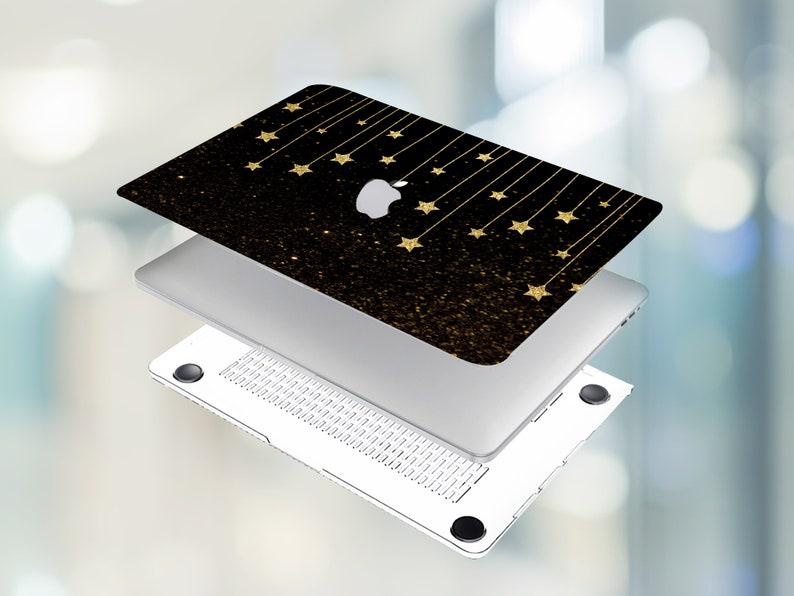 MacBook Pro 16 Case Apple MacBook Pro 15 Case MacBook 15 inch Case Golden Stars MacBook Air 13 2020 Case MacBook Pro 13 Hard Case Starry