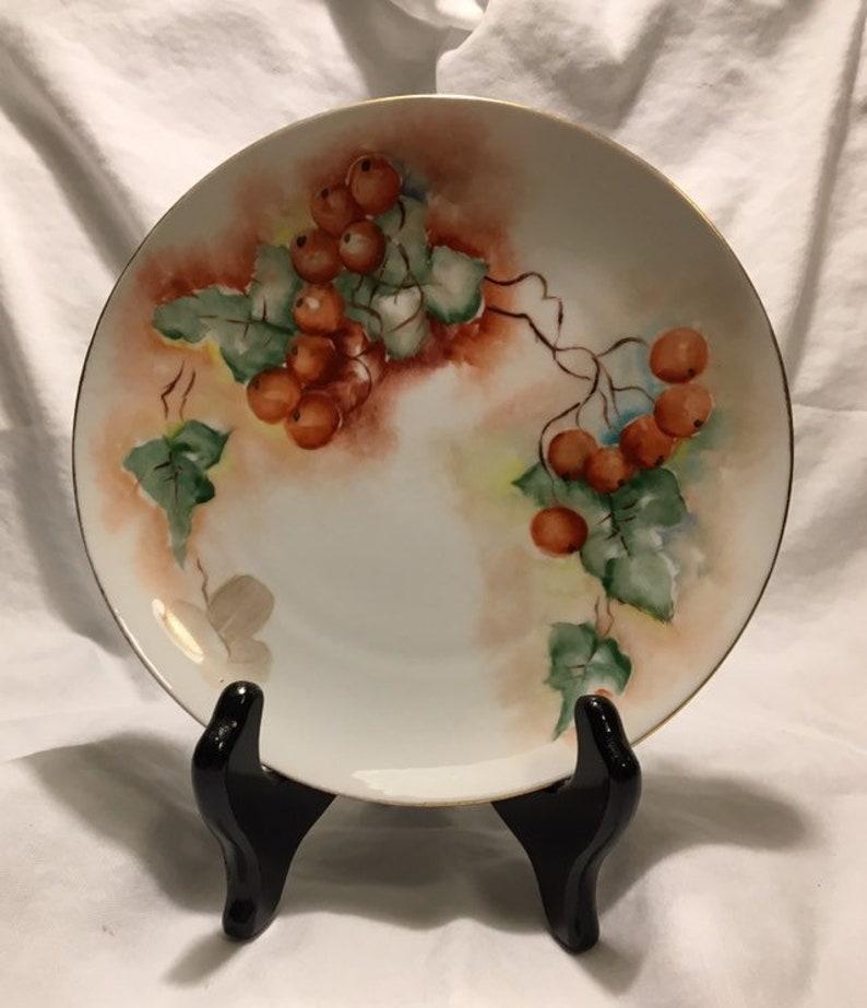 MZ Austria Hand Painted Porcelain Plate