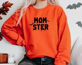Momster Sweatshirt - Mom Halloween Sweatshirt - Halloween Pullover - Halloween Sweater - Funny Halloween Sweater - Fall Sweatshirt