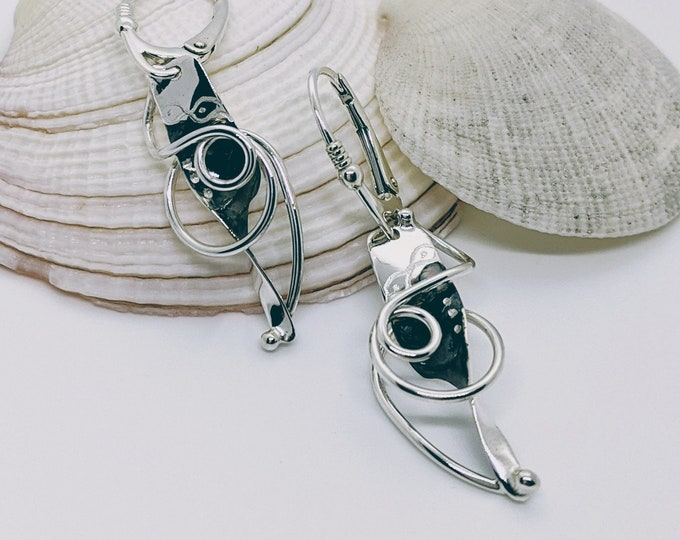 Lever Back Sterling with Patina and Hand Engraved Designs!