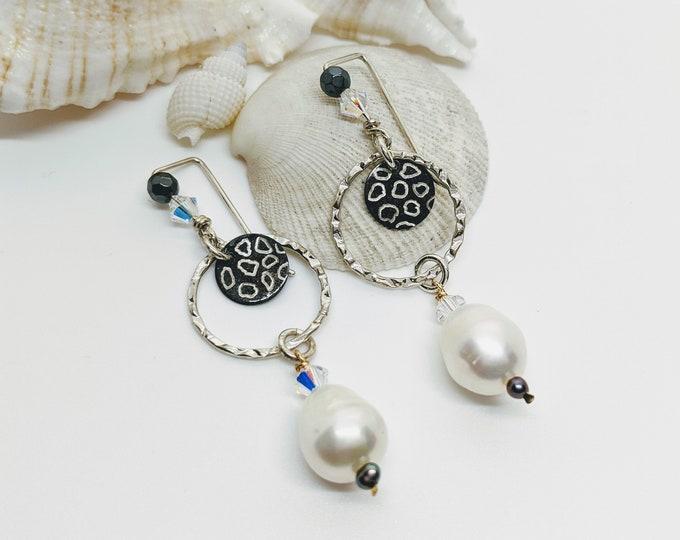 Animal Print and Pearl Earrings!
