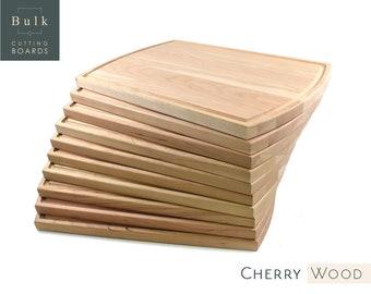 "Large Hardwood Cutting Boards (5-pk), 10.5"" X 16"" x 3/4"", Bulk Cutting Boards (Maple, Walnut or Cherry), Corporate Gifts"