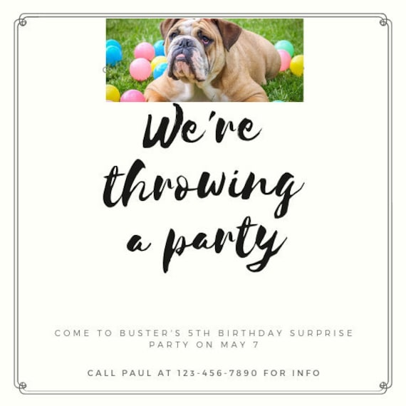 Dog Event Invitation