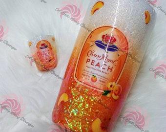 Crown Royal Peach Glitter Ombre Tumbler