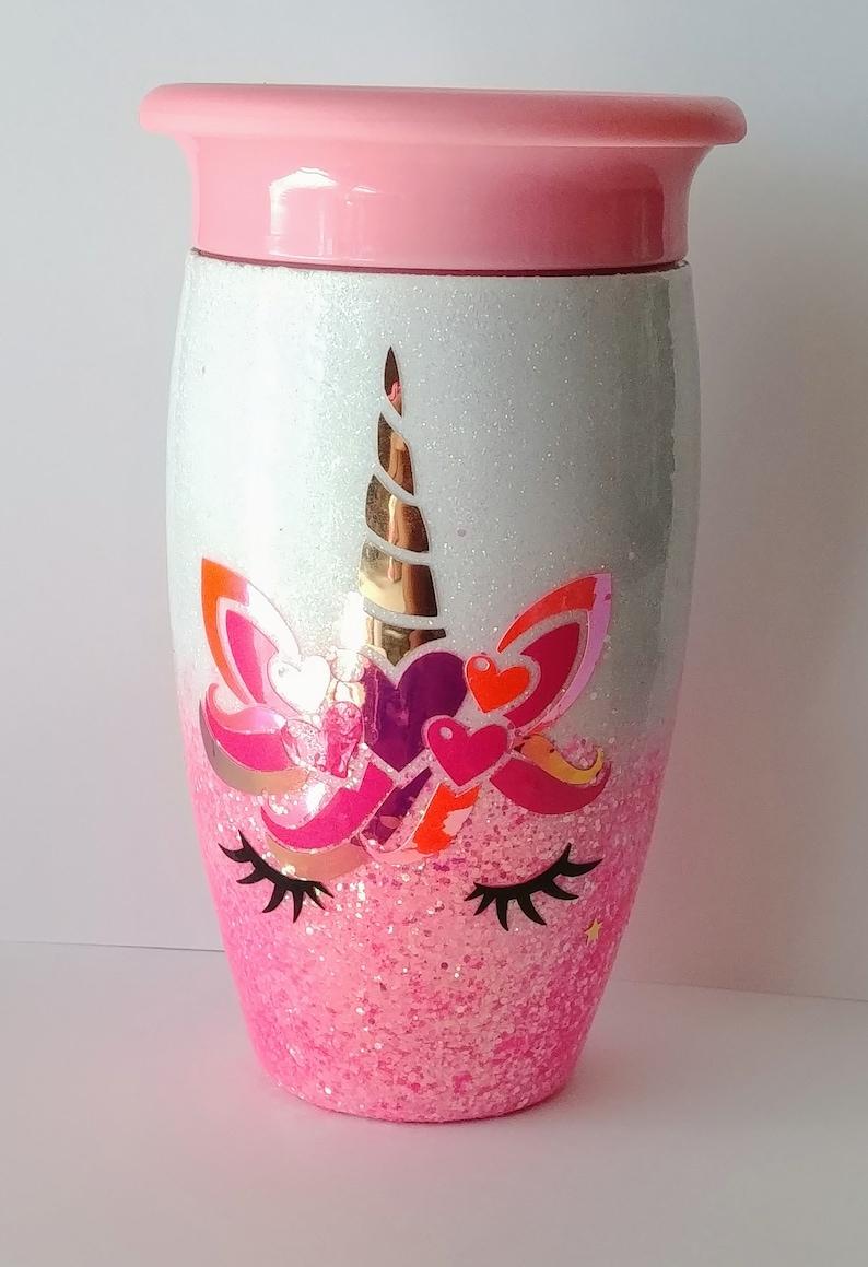 Glitter Unicorn Munchkin Hogg all around 360 sippy cup