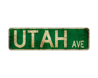 Arizona Ave Decor Wall Shop Man Cave Bar Street Rustic Vintage Retro Metal Sign