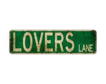 """Metal Street Sign Lovers Lane Garage Man Cave Bar Decor 3/""""x18/"""""""