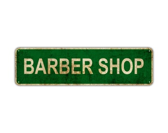Vintage Tin Sign Barbers Shop Closed Sign Rustic Distressed Metal Sign