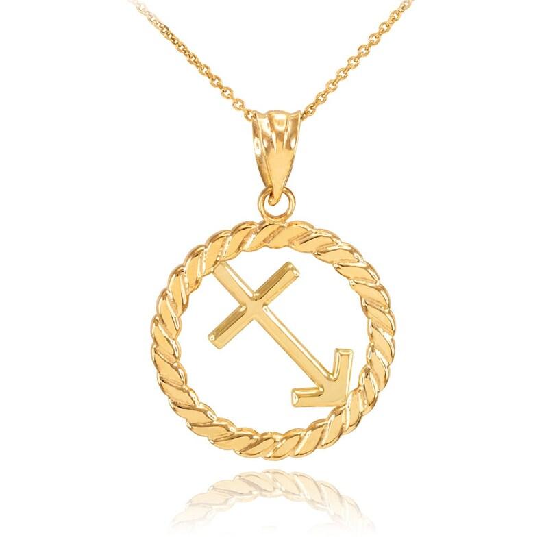 Gold Pendant,Sagittarius Zodiac,Sign in Circle Rope,Pendant,Gold Necklace,Zodiac Sign,Gold Gemini,Zodiac Pendant,Handmade Jewelry