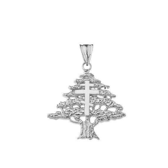 Sterling Silver Maronite Cross Engravable Dog Tag Pendant Necklace