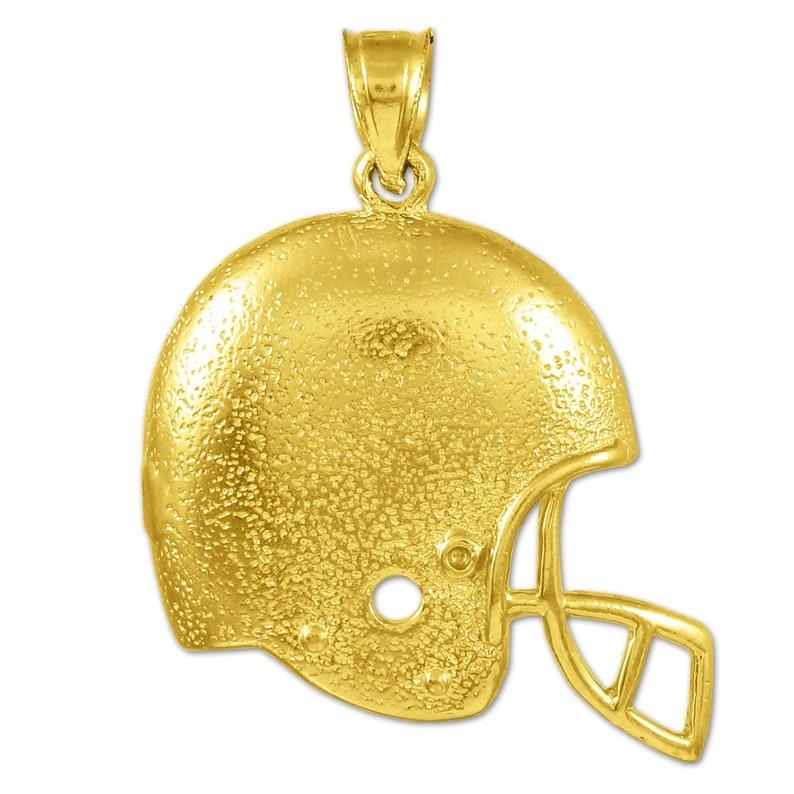 Necklace Handmade Jewelry Sports Pendant Football Lover Gold Pendant Helmet Pendant Gold Helmet Football Helmet
