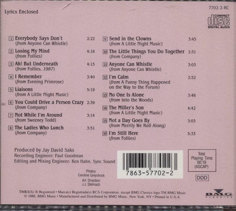 CD Cleo Laine Sondheim RCA Records 1988 Release   Etsy