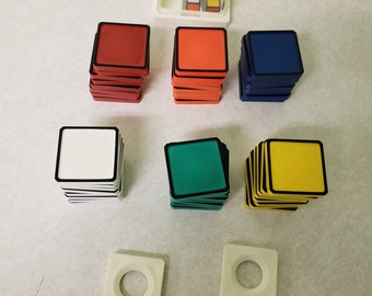 Rubiks Race Game Replacement Tiles 1982 Crafts Scrapbooking