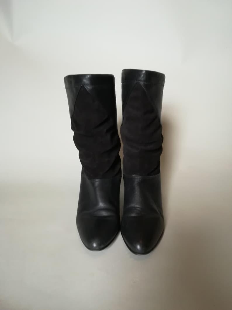 a6a8dc87c43 80's Women's Black Ankle Slouch Boots - Vintage Boots