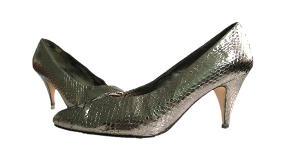 2eb68ff6ad7 80's Lilley & Skinner Metallic Heels