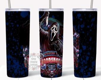 Scream Horror Movie 20oz Stainless Steel Halloween Tumbler Cup