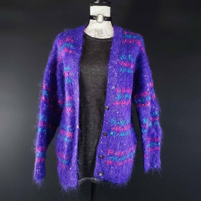 1980s Jacobson/'s Purple cardigan