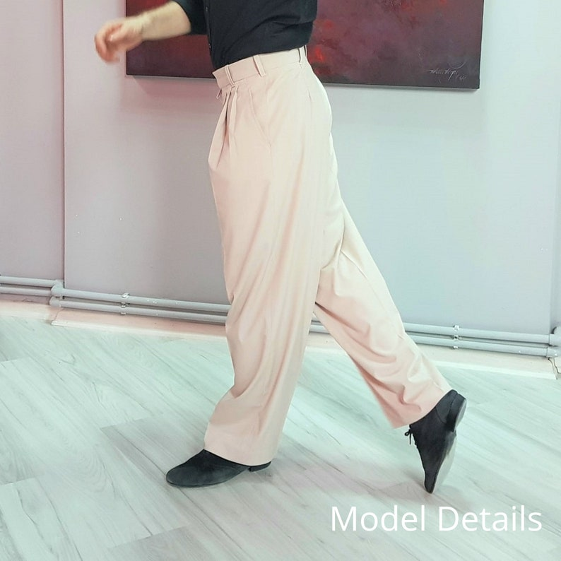 1950s Men's Pants, Trousers, Shorts | Rockabilly Jeans, Greaser Styles Tango Trousers - TANGUERO | Untangomas Tango Pants $109.00 AT vintagedancer.com
