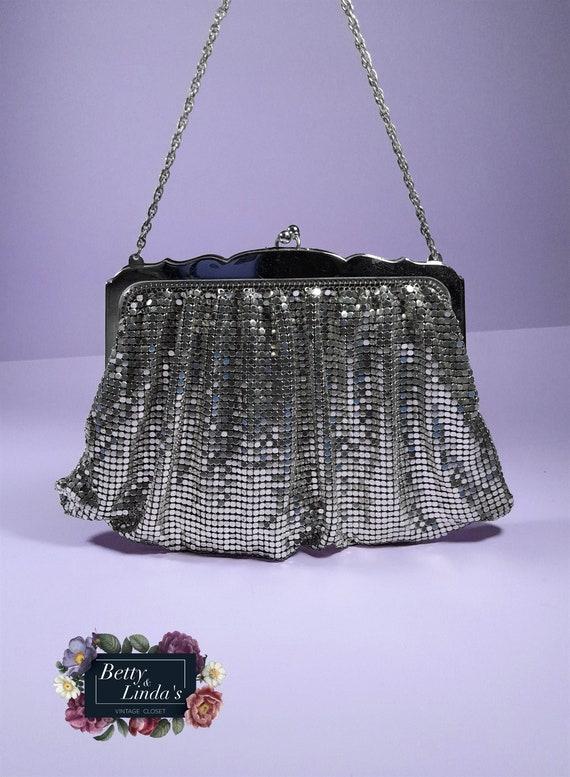 Whiting & Davis silver mesh vintage purse, silver