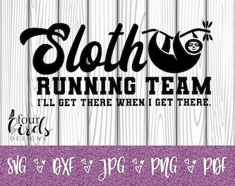 Sloth Running Team Etsy