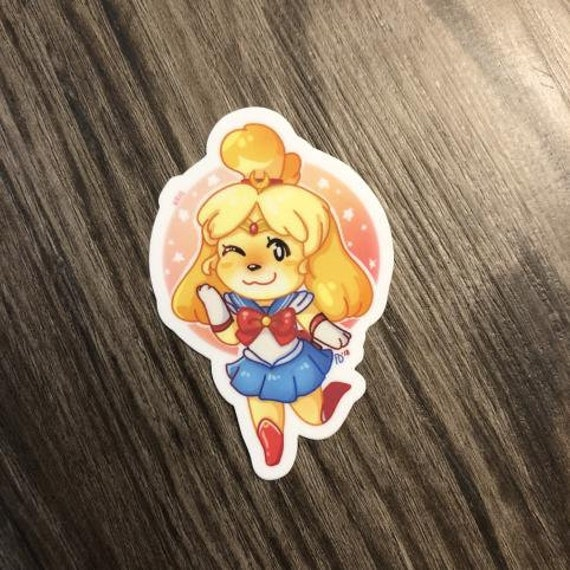 Animal Crossing Sticker Sailor Scout Isabelle Etsy