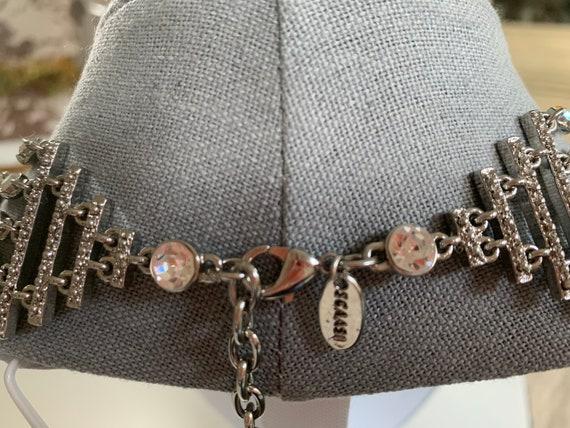 Silver Iridescent 5 Strand Necklace Designer: Arn… - image 5