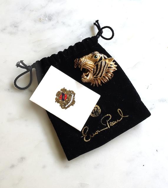 Erwin Pearl Tiger Head Pin/Brooch.  Gucci Tiger He
