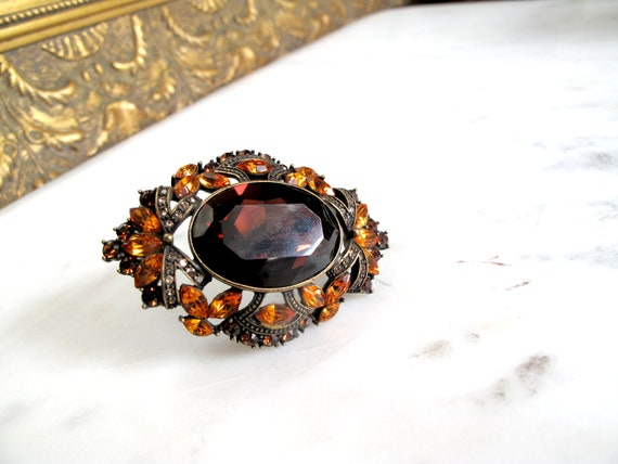 Joan Rivers -signed-Ruby-Enamel- Rhinestone-amber-