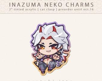 Acrylic Keychain - Arataki Itto [Genshin Impact Inazuma Neko Charms]