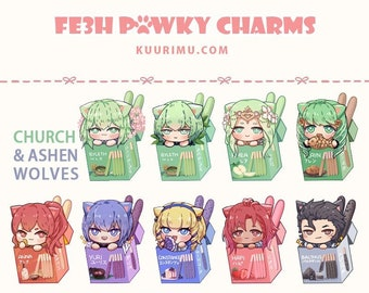 FE3H Pawky Acrylic Keychains - Ashen Wolves & Church of Seiros