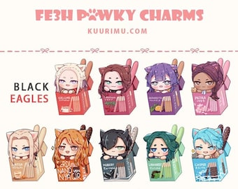 FE3H Pawky Acrylic Keychains - Black Eagles