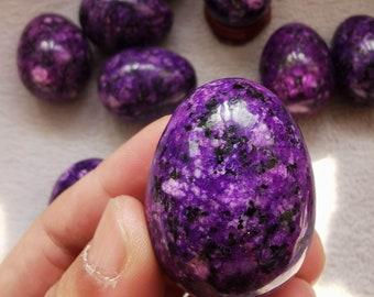 "40X30mm(1.6"")  Polished Deep Purple Sugilite Egg, Love Stone,  Healing Energies Cabochons,Gemstone,Prayer sphere  Loose Stone,Semi Precious"