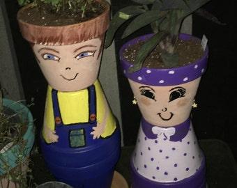 Etsy & Flower pot people | Etsy