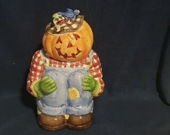 WCL Ceramic Pumpkin/Jack-O-Lantern Cookie Jar