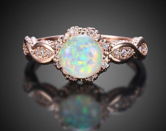 7335c686bfc7 Opal engagement ring | Etsy