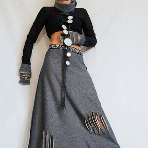 Plus Size Gothic Women Set Women Casual Outfit Steampunk Women Style Tunic And Skirt Set Black Outfit Oversize Suit Women Black Suit