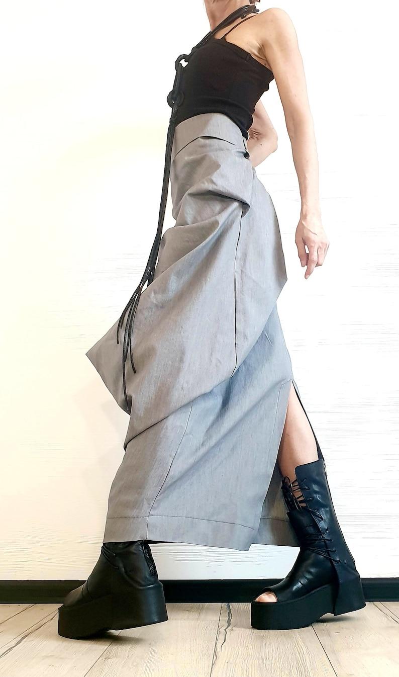 Wedding Skirt A Line Skirt Extravagant Wrap Skirt Asymmetric Skirt Maxi Skirt Long Slit Skirt Ball Cocktail Skirt Gothic Skirt