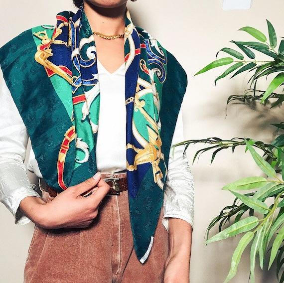 Beautiful 1970's silk Hermes scarf