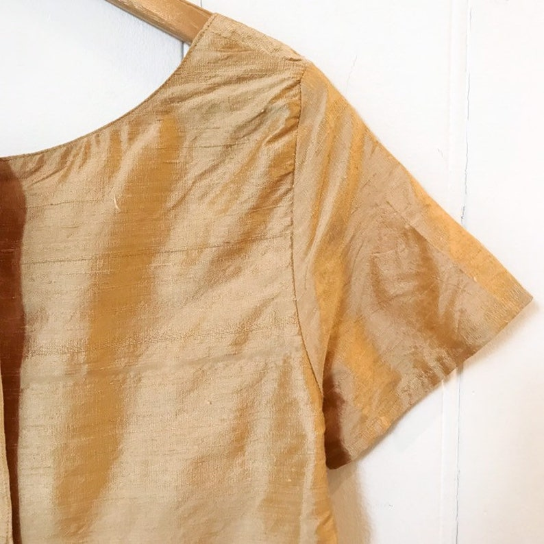 Handmade silk top